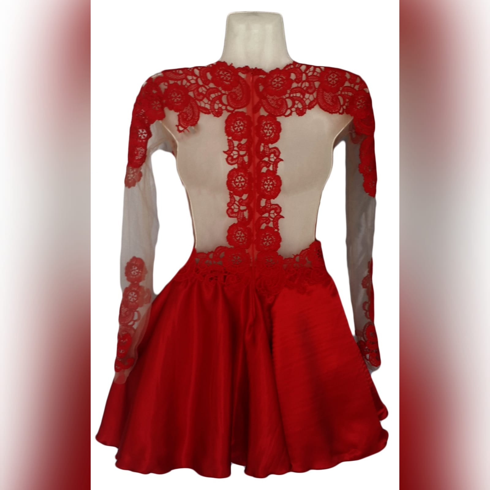 21st birthday party short evening dress 3 short red lace evening dress for a 21st birthday party. Dress with an illusion back detailed with lace, neckline and sleeves, bodice fully laced