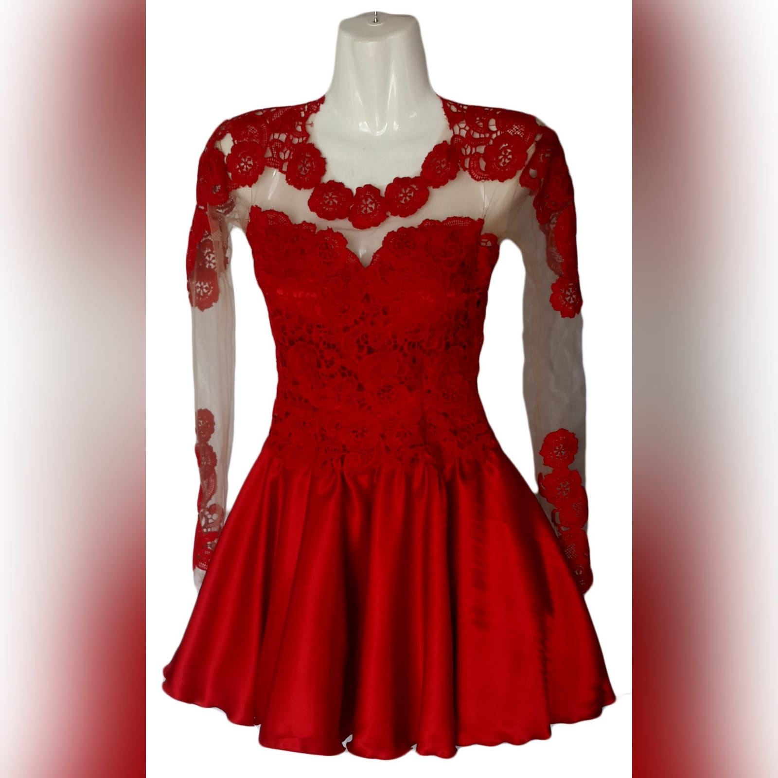 21st birthday party short evening dress 4 short red lace evening dress for a 21st birthday party. Dress with an illusion back detailed with lace, neckline and sleeves, bodice fully laced