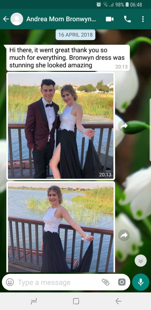 Andrea - Prom Dress Review