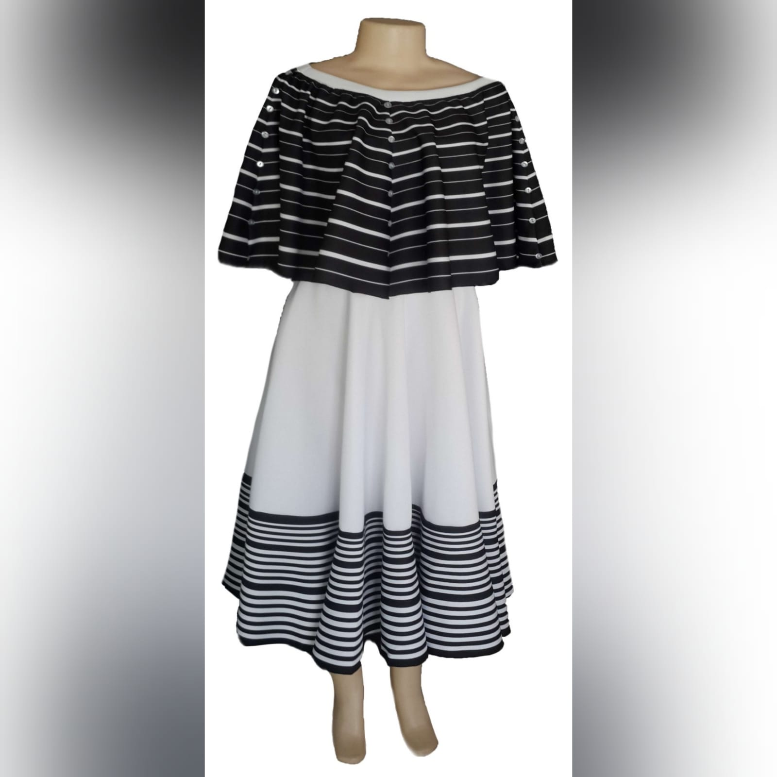 Black and white 2 piece modern traditional dress 4 xhosa black & white 2 piece modern traditional dress. Boob tube dress with a removable poncho