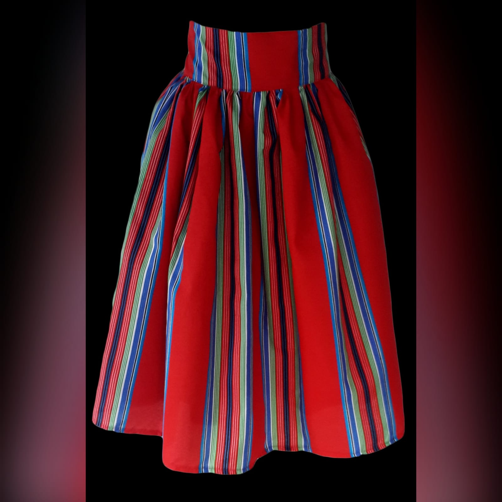 High waist traditional red venda skirt 4 high waist traditional red venda skirt