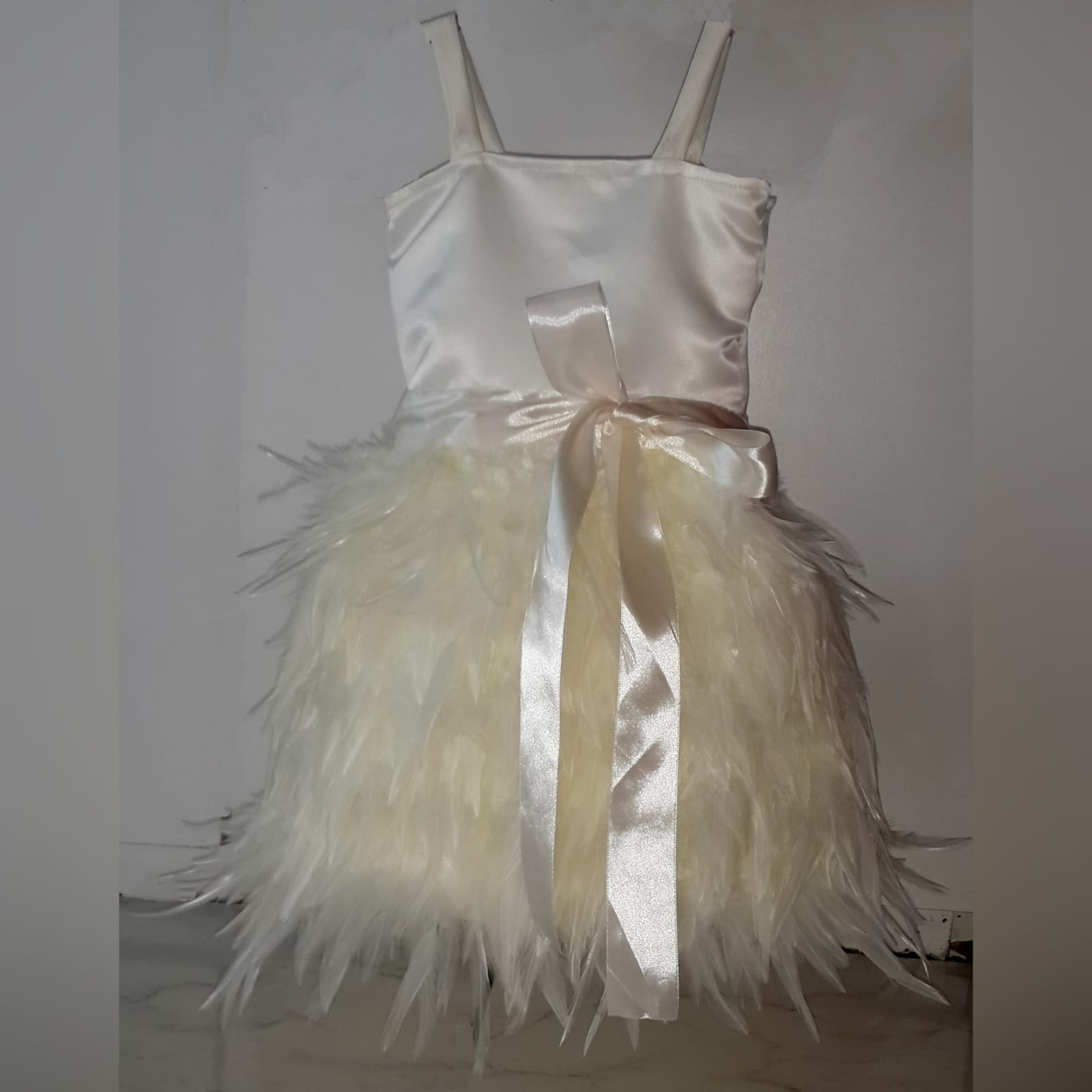 Ivory feather mini brides dress 4 ivory feather mini brides dress
