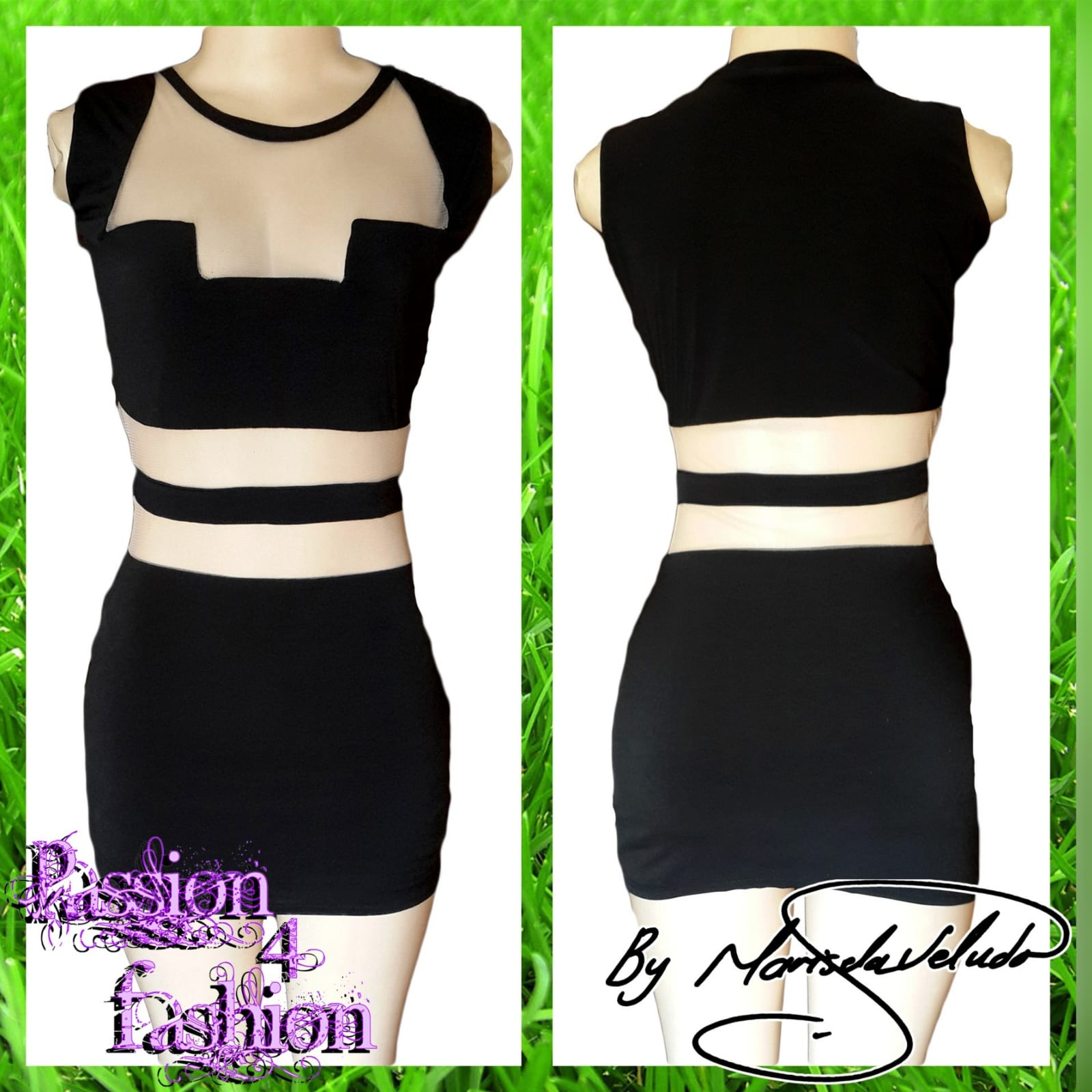 Mini black smart casual dress 3 mini black smart casual dress with see through tummy design and funky neckline