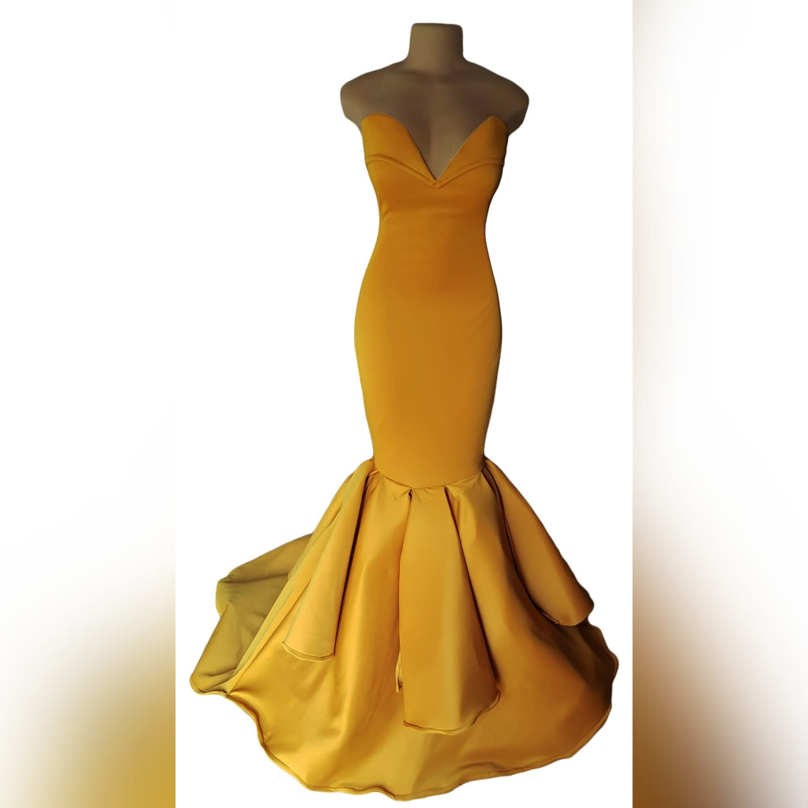 Mustard yellow sweetheart neckline mermaid prom dress 8 mustard yellow sweetheart neckline mermaid prom dress. With train and detailed stiff tubes