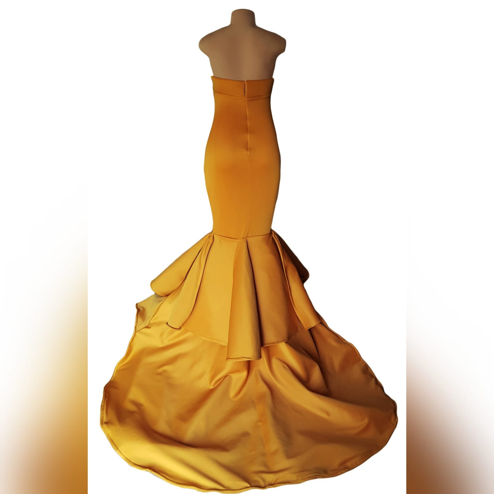 Mustard yellow sweetheart neckline mermaid prom dress 7 mustard yellow sweetheart neckline mermaid prom dress. With train and detailed stiff tubes