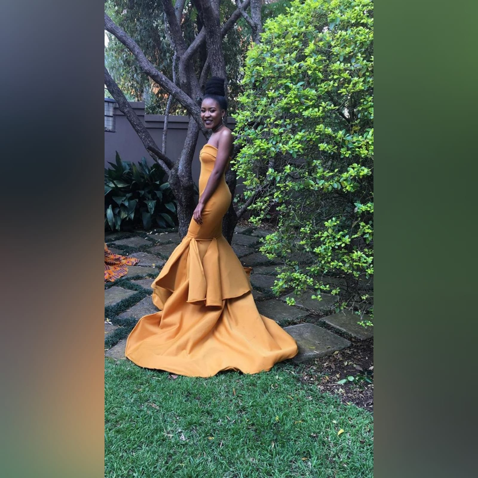 Mustard yellow sweetheart neckline mermaid prom dress 5 mustard yellow sweetheart neckline mermaid prom dress. With train and detailed stiff tubes