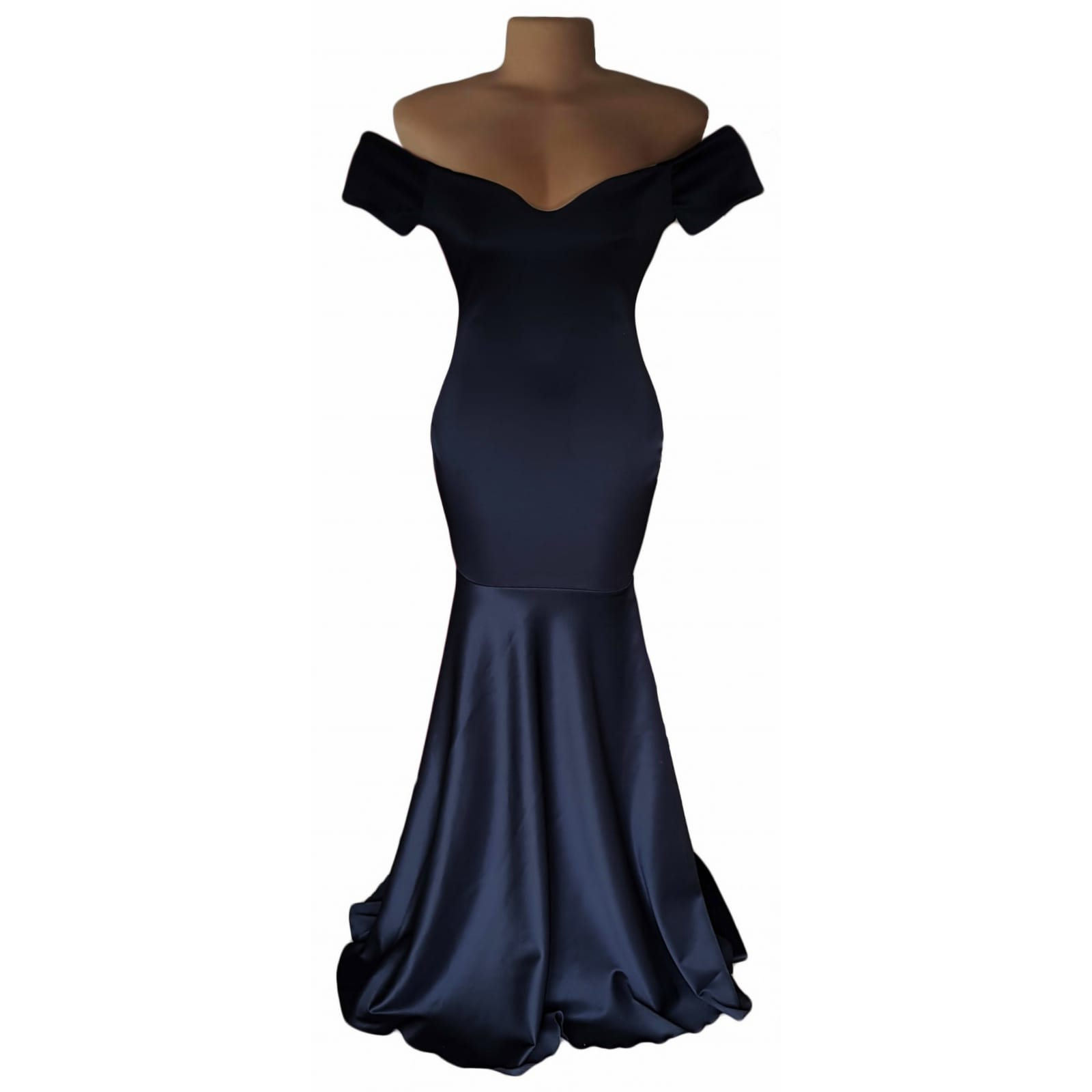Off shoulder black soft mermaid prom dress 2 off shoulder black soft mermaid prom dress with a train and off shoulder cap sleeves