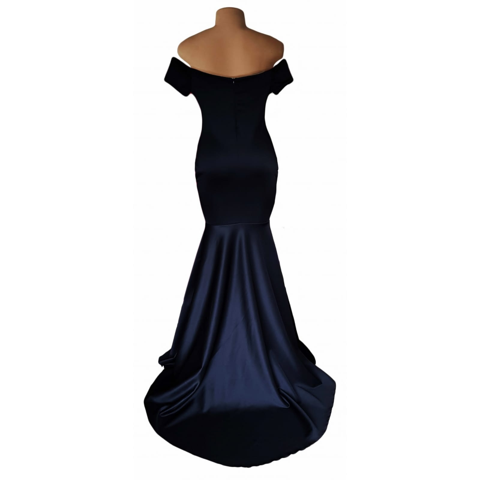 Off shoulder black soft mermaid prom dress 5 off shoulder black soft mermaid prom dress with a train and off shoulder cap sleeves