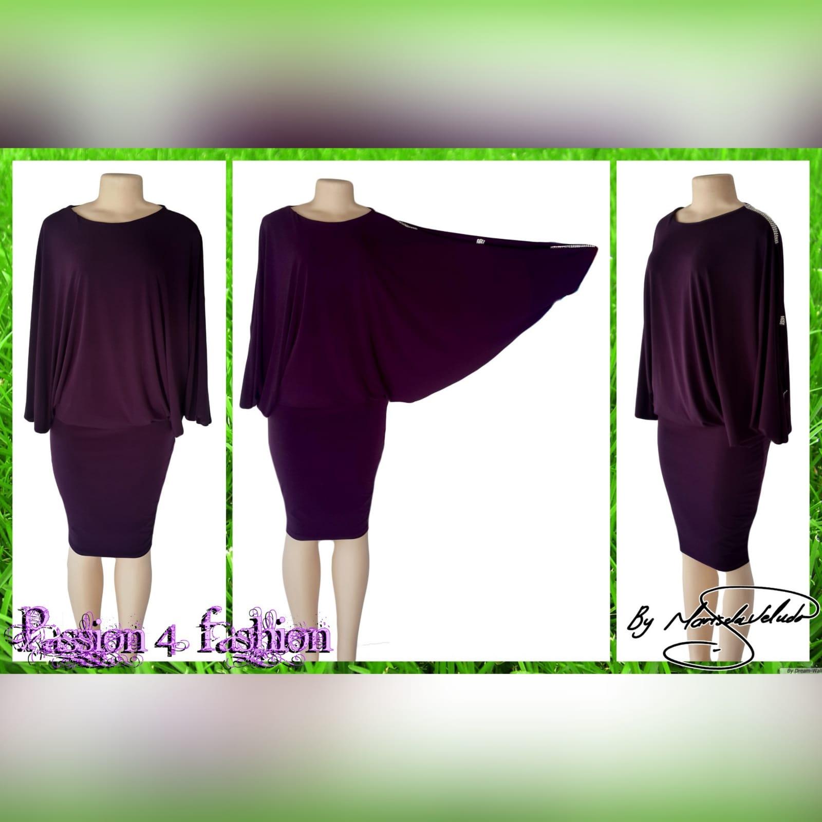 Plum smart casual knee length dress 2 plum smart casual knee length dress with wide sleeves and fitted hip area creating a mini skirt look