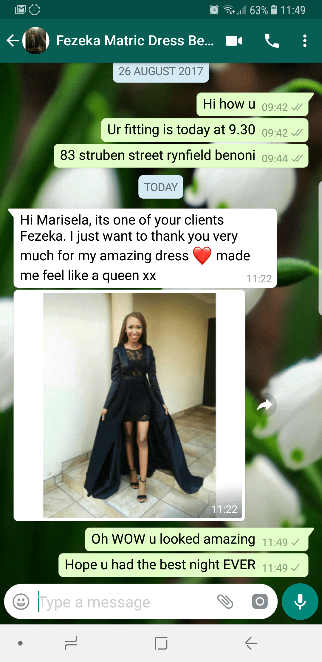 Fezeka - 2017 - prom dress review