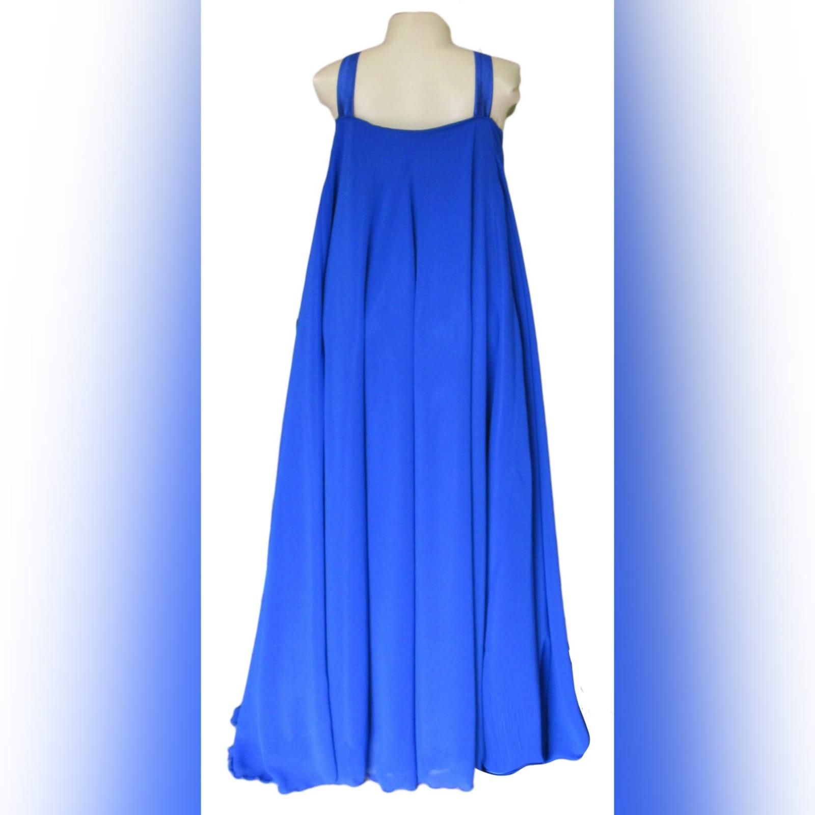 Royal blue flowy chiffon summer elegant dress 4 royal blue flowy chiffon summer elegant dress