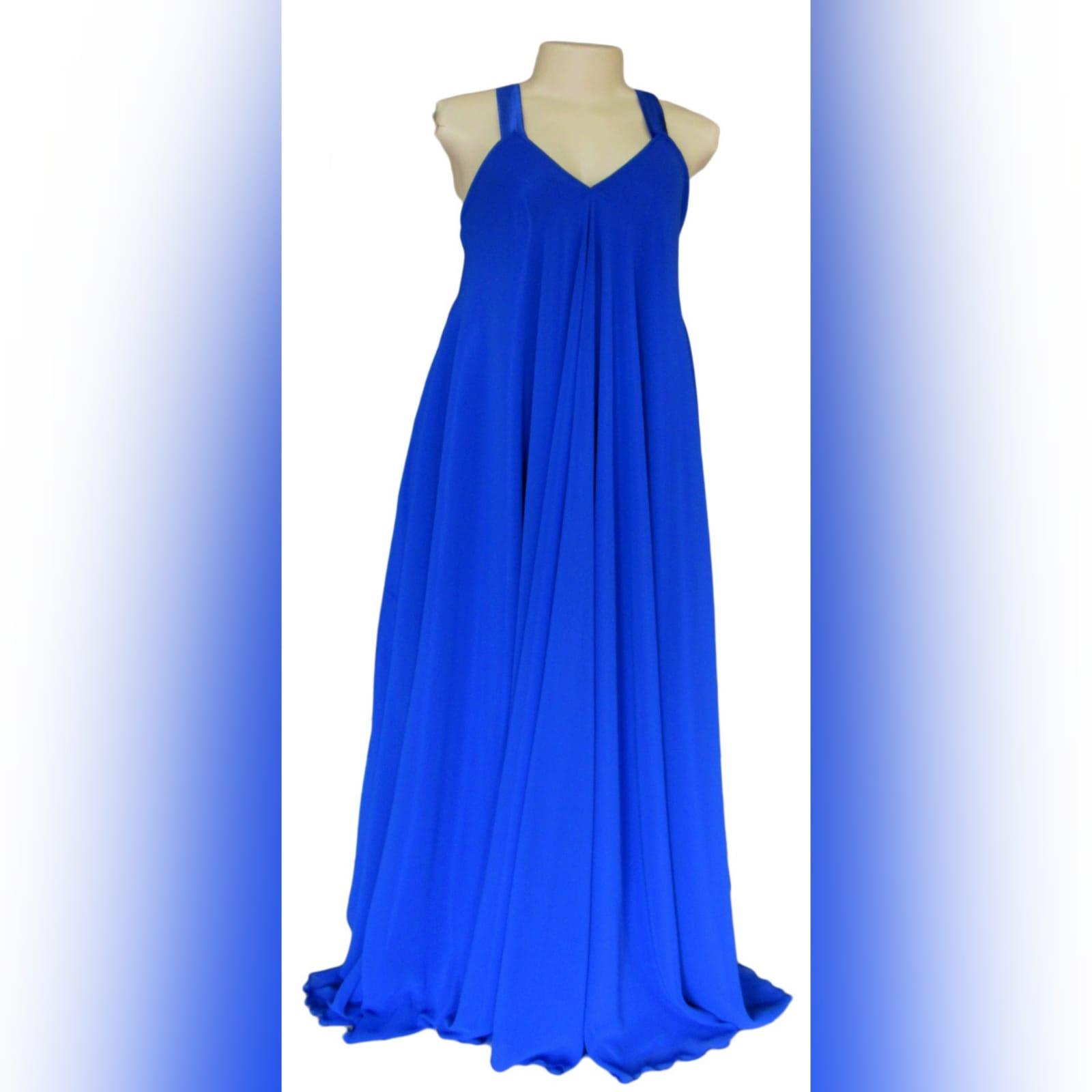 Royal blue flowy chiffon summer elegant dress 3 royal blue flowy chiffon summer elegant dress