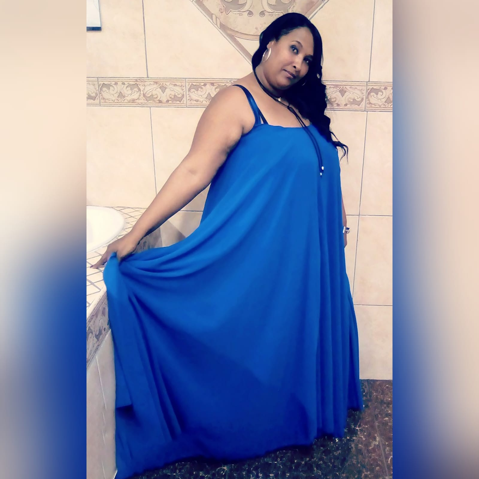 Royal blue flowy chiffon summer elegant dress 1 royal blue flowy chiffon summer elegant dress