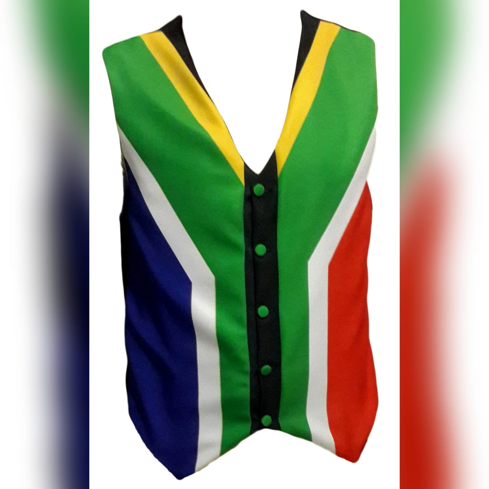 South african flag mens waistcoat 4 south african flag mens waistcoat couriered to the usa.
