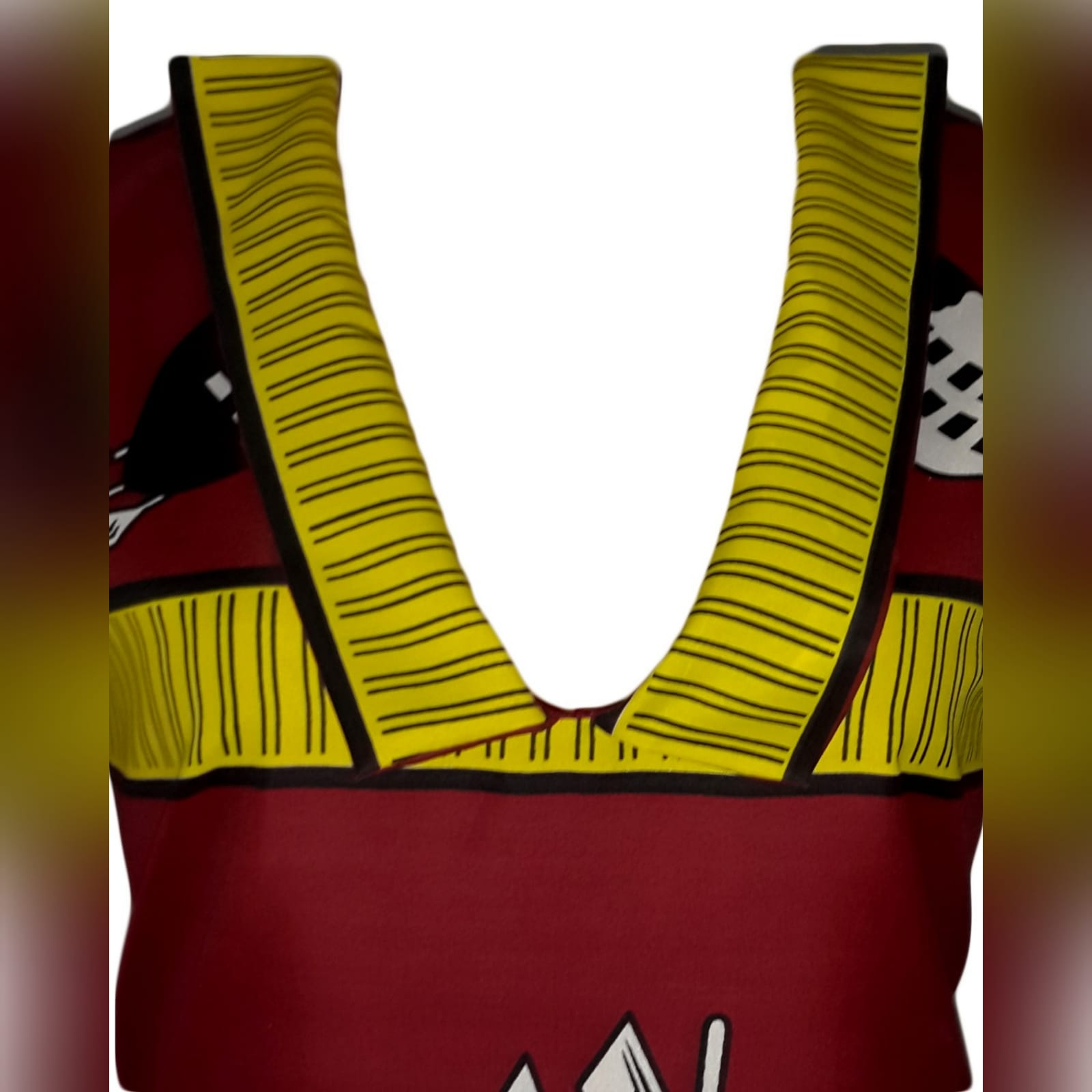 Traditional swati dress with matching swati doek 2 traditional swati dress with a v neckline, finished with a collar design that can be worn in 3 different ways. With a matching swati doek.