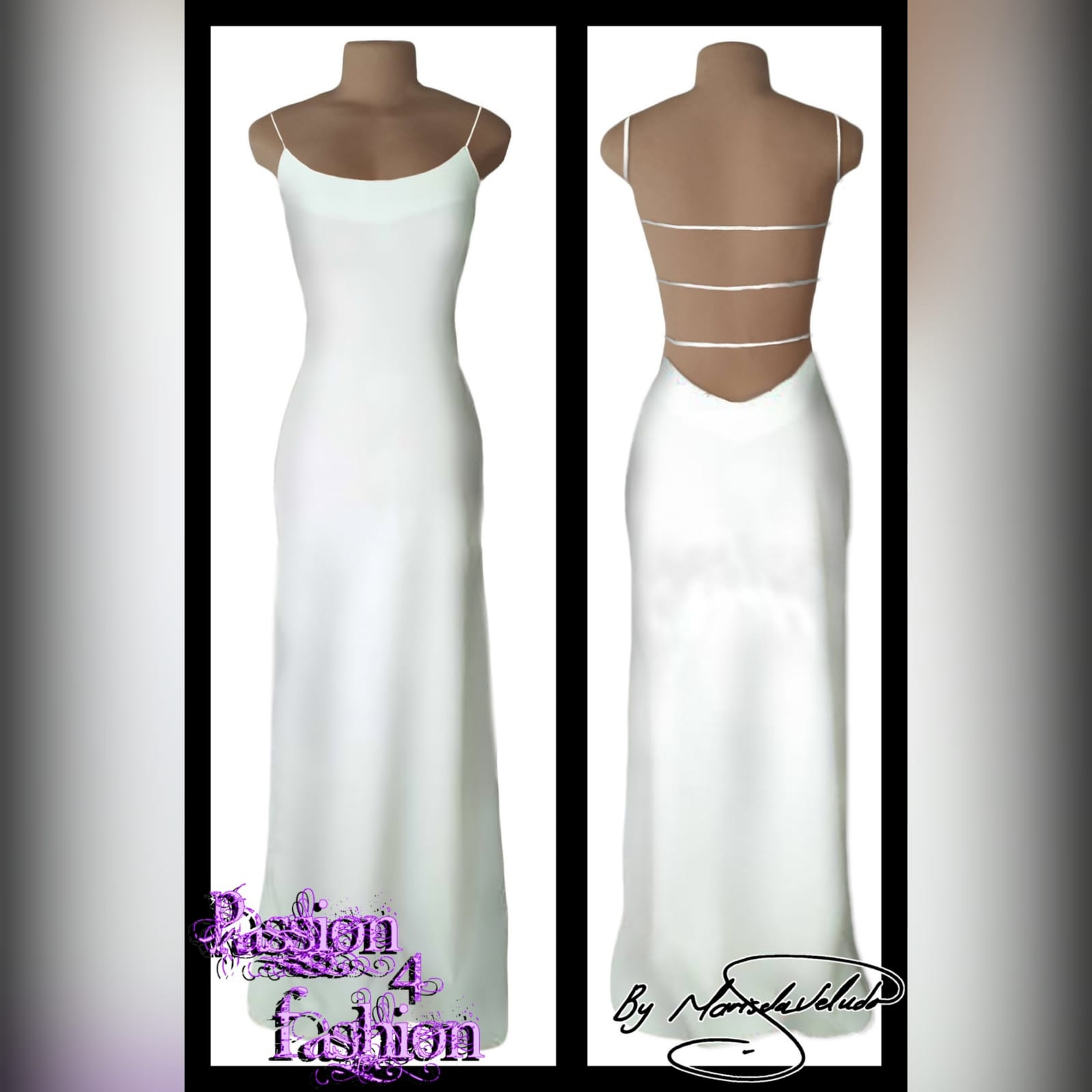 White long sexy evening dress 3 white long sexy evening dress with a low open back detailed with straps