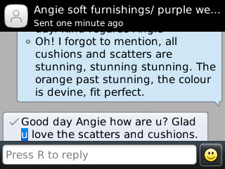 Angie #1 - Soft Furnishings Review