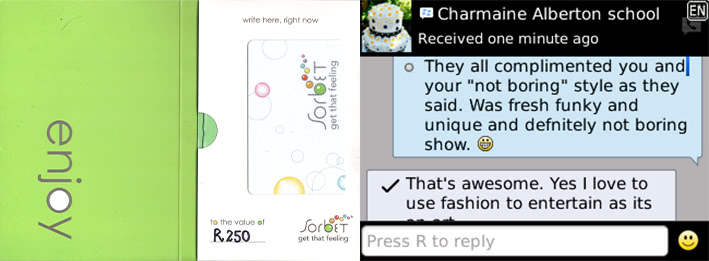 Charmain - 2014 - general feeback