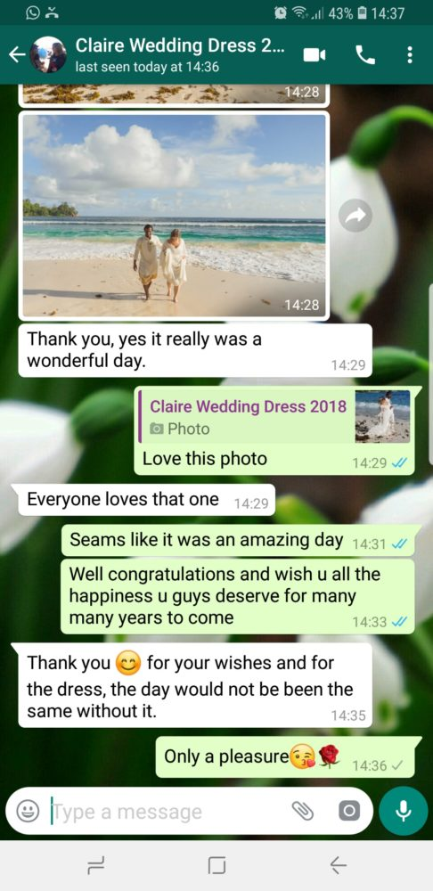 Claire - 2018 - Wedding Dress Review