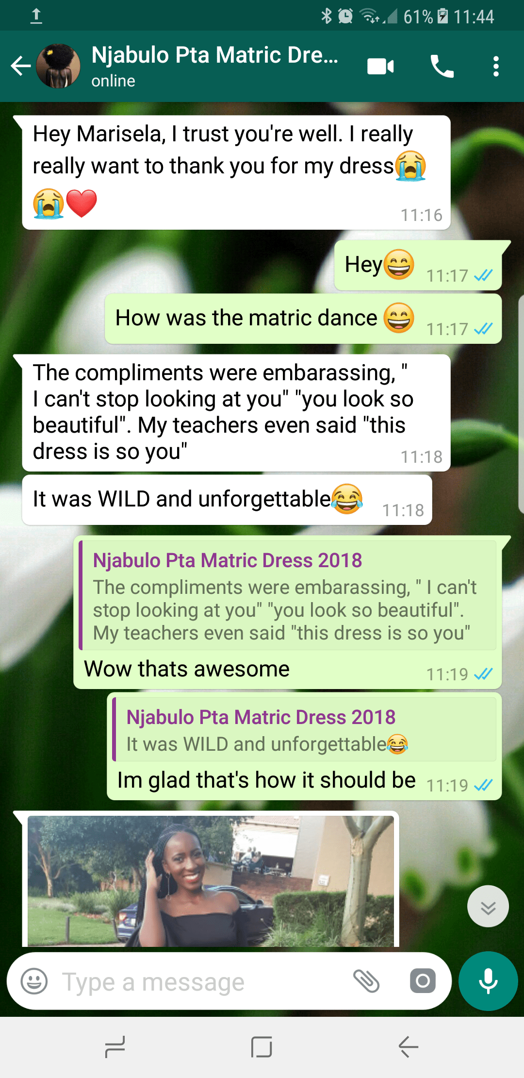Njabulo - 2018 - Prom Dress Review