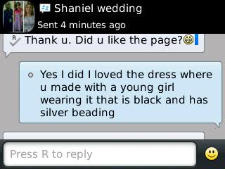 Shaniel - 2013 - General Feedback