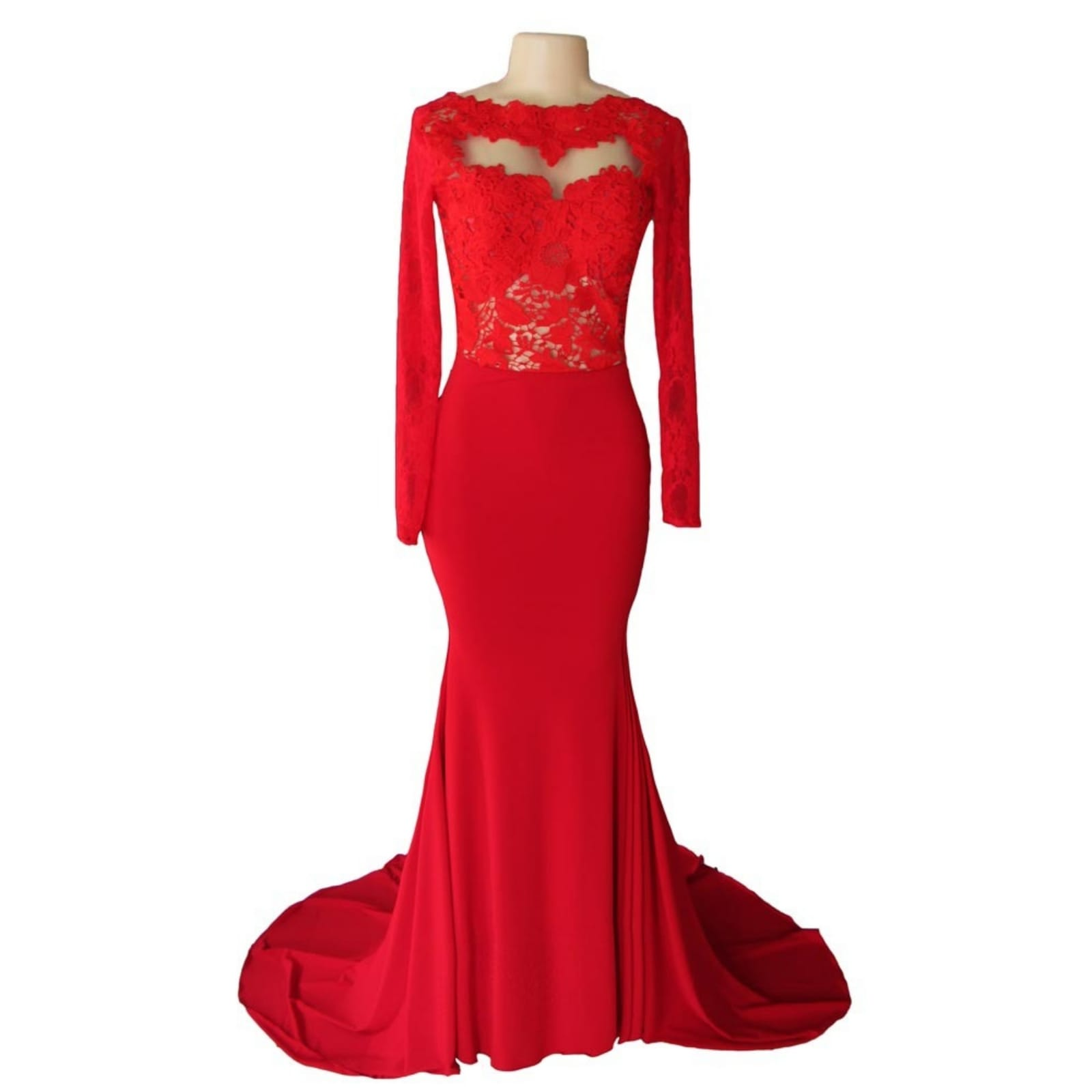 Elegant red body hugging matric farewell dress 8 i created an elegant red body hugging matric farewell dress for brenda's important night. She made an entrance with this sophisticated design, with a lace bodice, long fitted lace sleeves, a low open back adding some sensuality to the look and a wide train for dramatic effect.