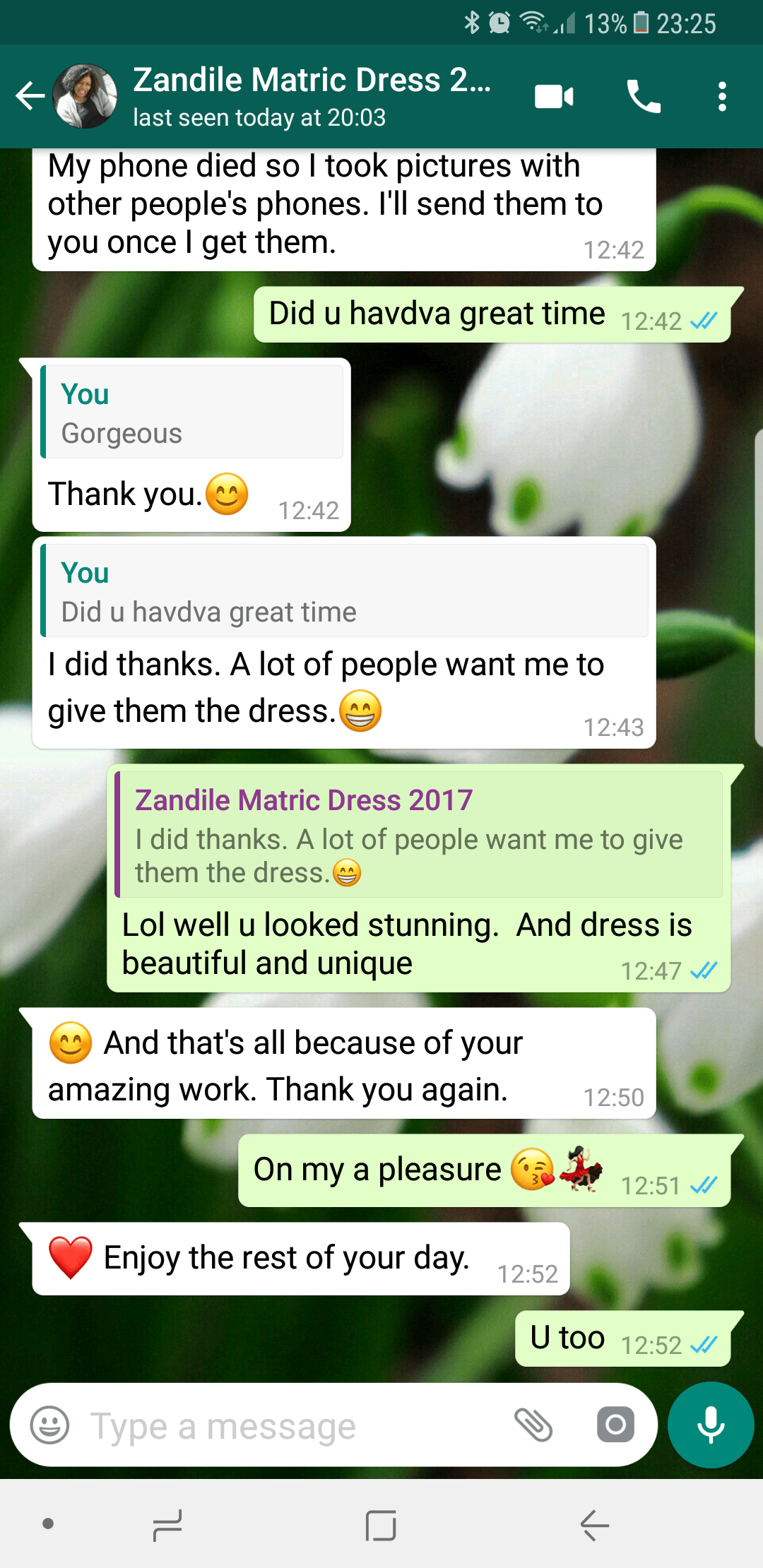 Zandile – 2017 – Prom Dress Review