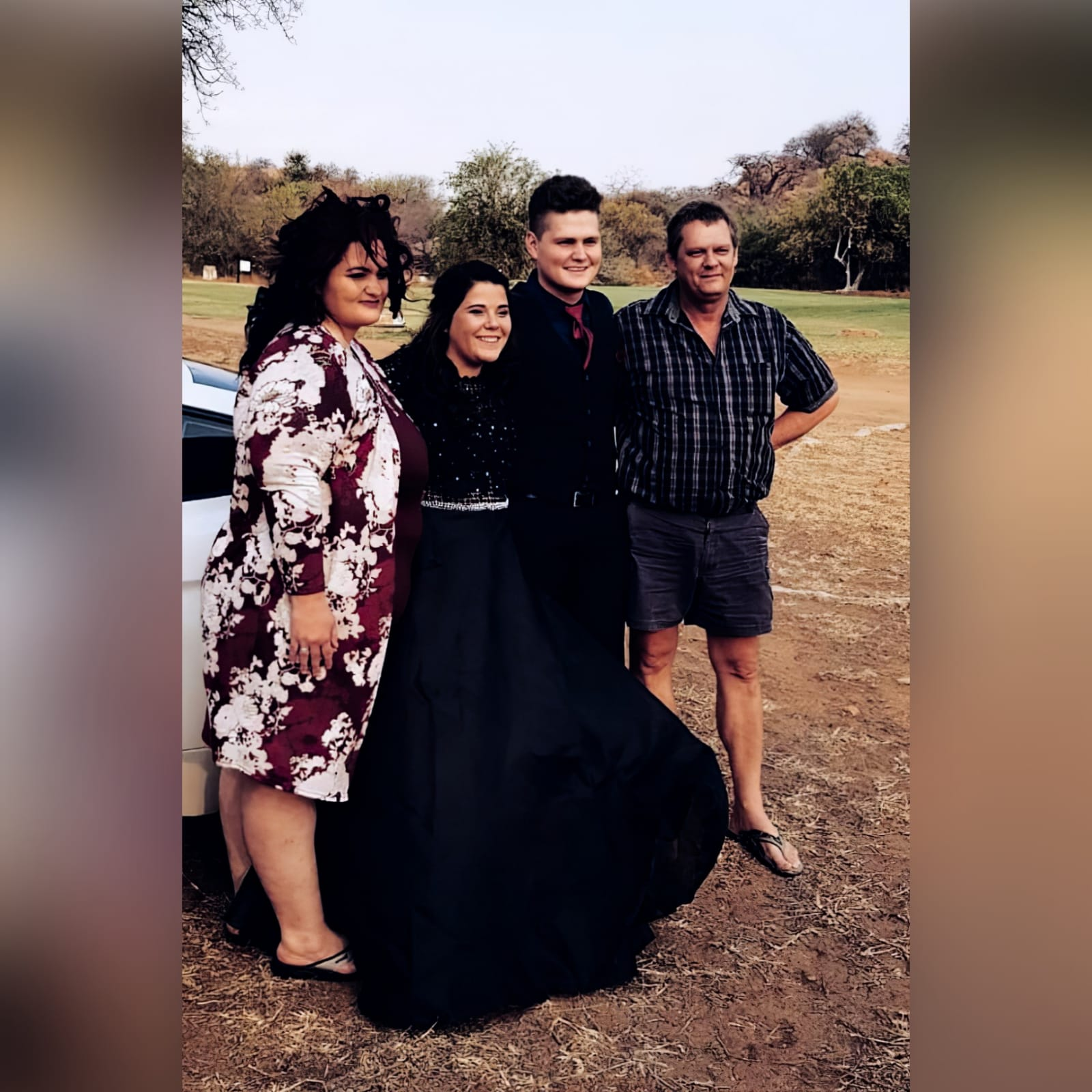 Black matric dress with a lace bodice 5 an elegant design created for a prom night. Black prom dress with a lace bodice with a slight sheer look detailed with silver beads and waist belt. Round neckline and long sleeves bottom flowy in a bridal organza