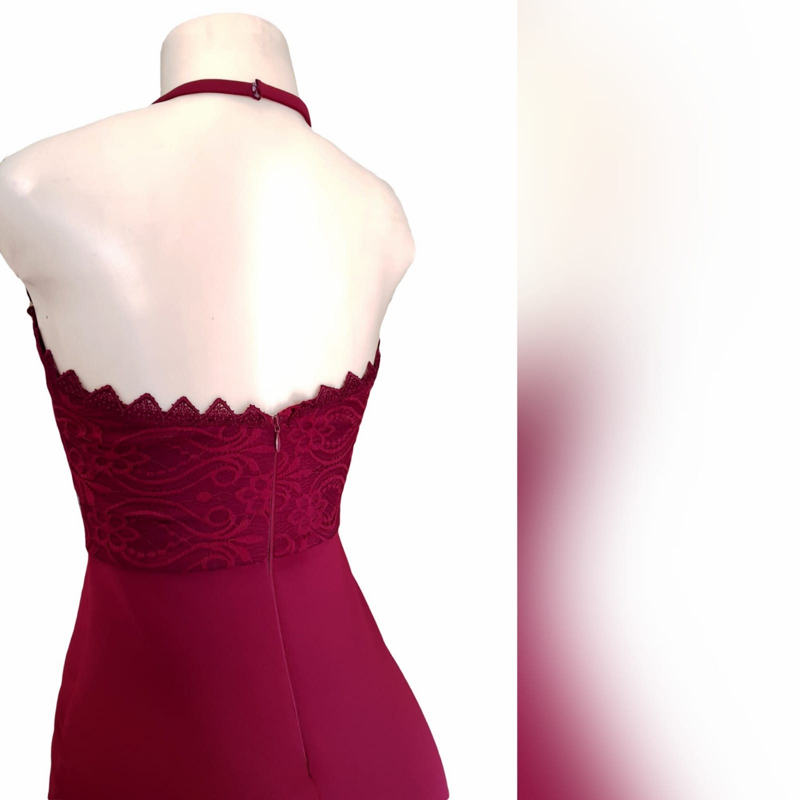 Burgundy soft mermaid gorgeous evening dress 12 this gorgeous evening dress was created for my client in south africa to celebrate her special occasion. A burgundy soft mermaid prom dress with a lace bodice, a sheer lace neckline and dramatic train.
