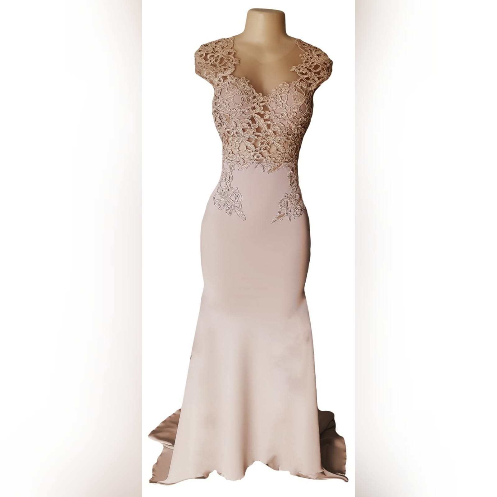 "Nude mermaid prom dress with a translucent lace bodice 11 <blockquote>""never dull your shine for somebody else. "" tyra banks</blockquote> a sophisticated dress design created uniquely for my client for her prom dance. A nude mermaid prom dress with a translucent lace bodice, v open back and a train."