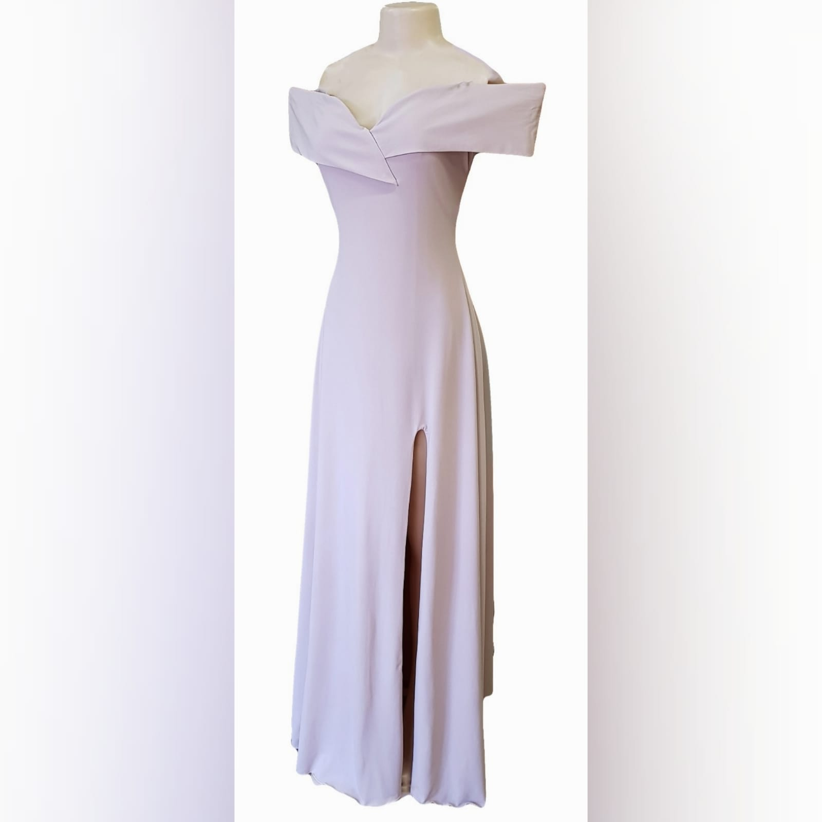 "Simple elegant nude long prom dress 7 <blockquote>""always be a first rate version of yourself and not a second rate version of someone else"" judy garland</blockquote>simple elegant nude long prom dress with an off shoulder cross bust neckline and a slit. A gorgeous design that can be worn to several occasions due to its simplicity."