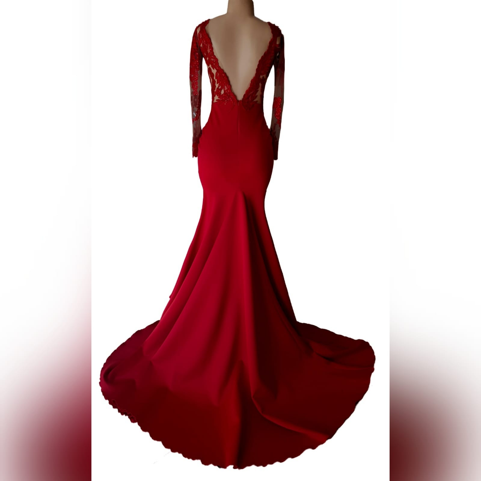 "Gorgeous red mermaid matric dance dress 8 <blockquote>""women are like teabags. We don't know our true strength until we are in hot water. "" eleanor roosevelt</blockquote> this gorgeous red mermaid matric dance dress designed and made for a client's special occasion, makes an entrance that will catch everyone's attention. With its bright colour and a lace bodice and sleeve with some bling and a train, you become the star of the night"