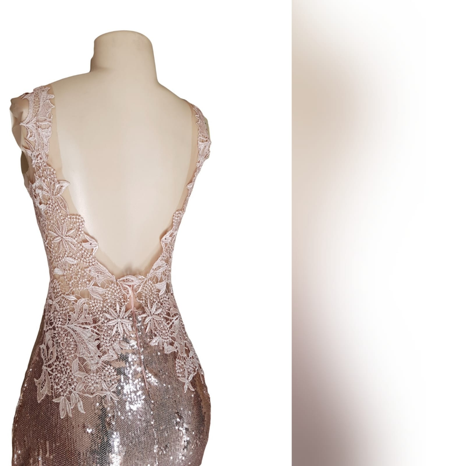 """Rose gold sequins mermaid prom dress with a lace bodice 6 <blockquote>""""make the most of yourself.... For that is all there is of you. """" ralph waldo emerson</blockquote> rose gold sequins mermaid prom dress with a lace bodice, custom made. This gorgeous gown, sparkles slightly adding a touch of drama and importance to the look. Creating an amazing effect when entering the party hall and hitting the dance floor"""