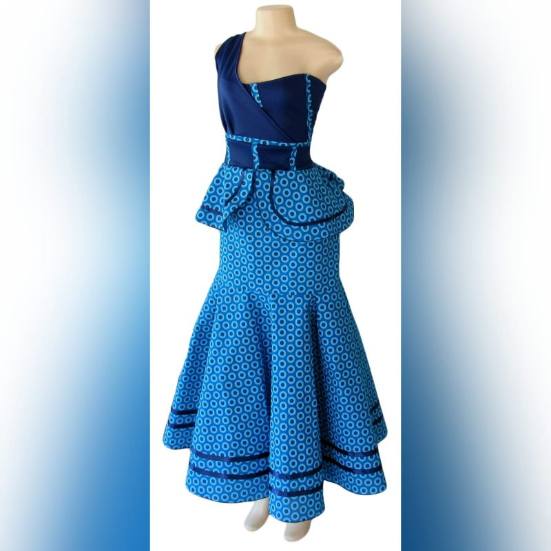 Blue shwehswe modern traditional dress (5)