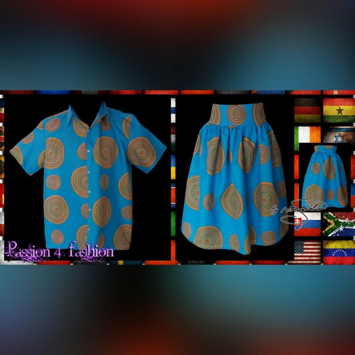 Matching Venda traditional outfits for the family (4)