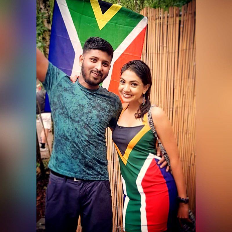 Mini South African flag halter neck dress (2)