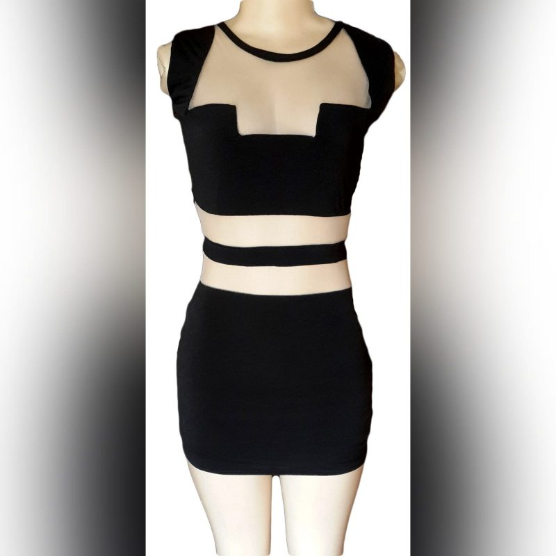 Mini black smart casual dress (1)