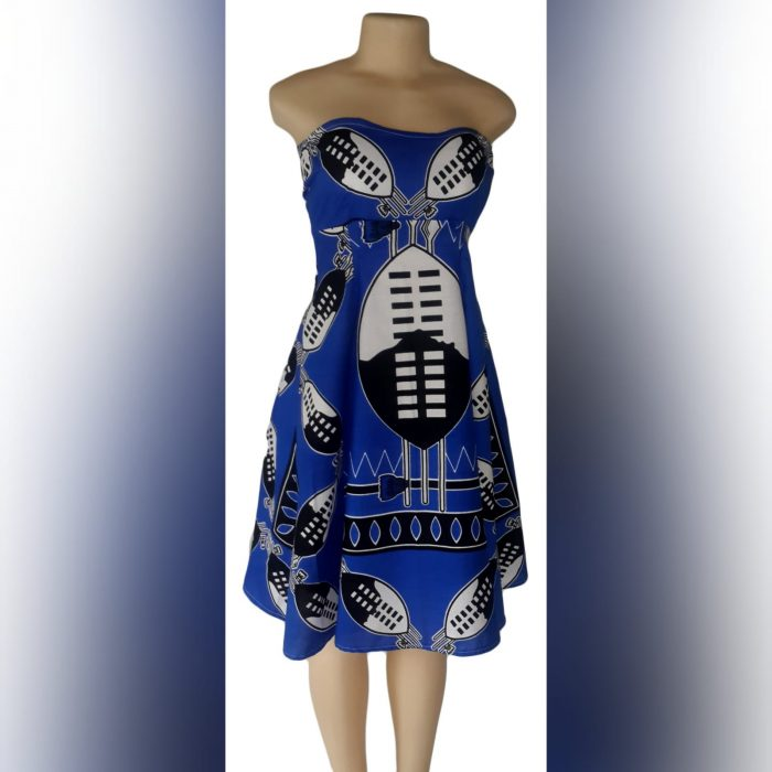 Modern traditonal royal blue swazi dress (1)