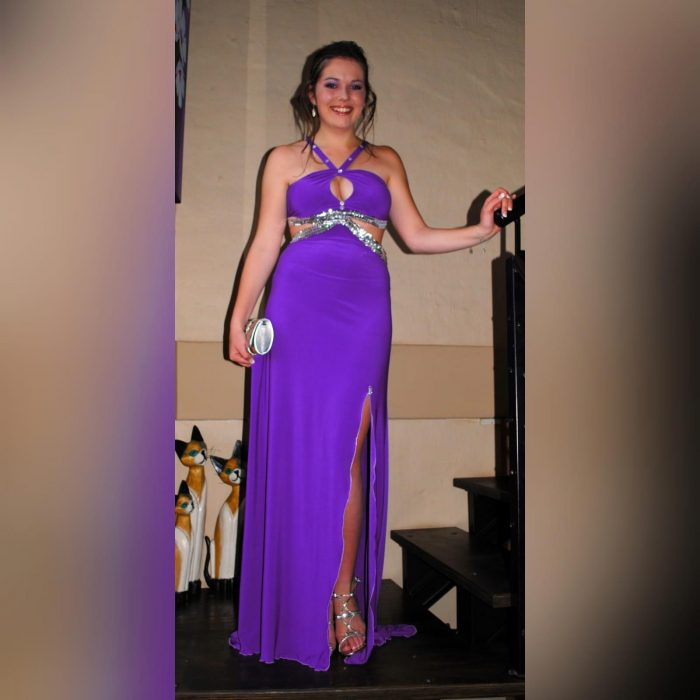 Purple long sexy prom dress Custom Made Dresses (3)