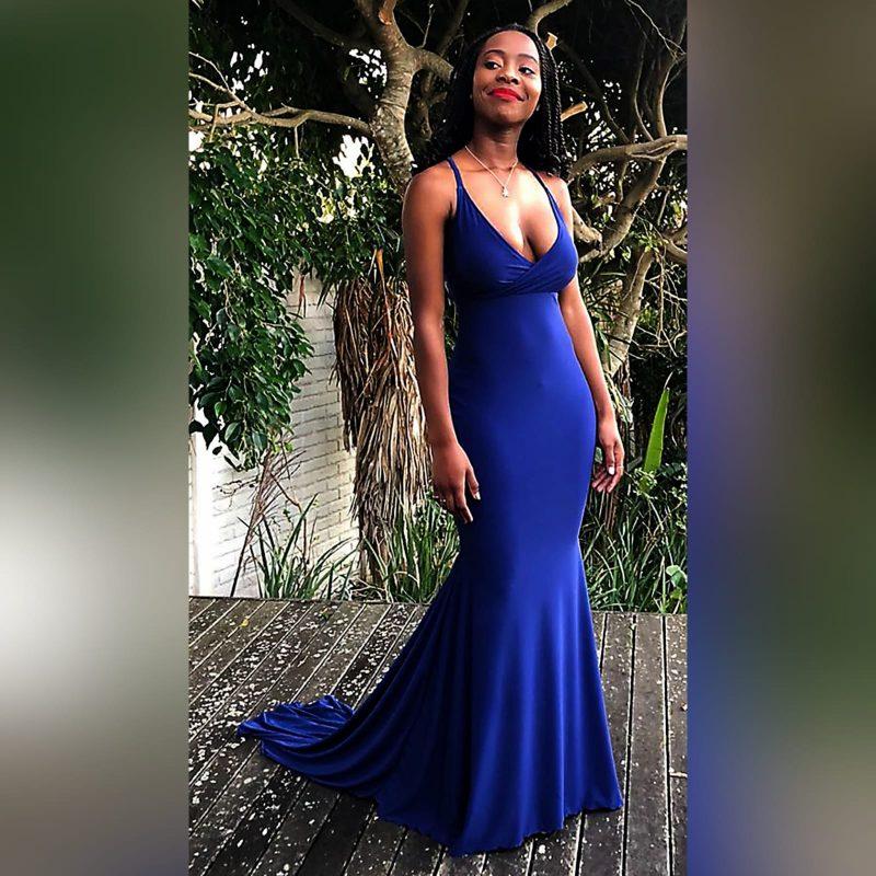 Royal blue soft mermaid cross busted prom dress (3)