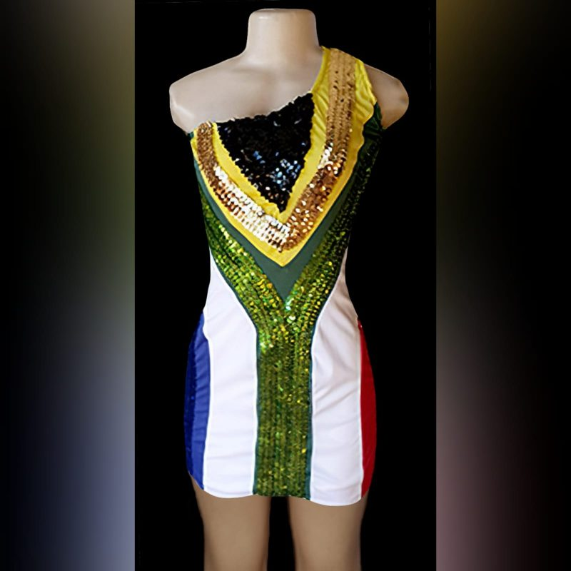 South African Flag Dress with single shoulder (1)