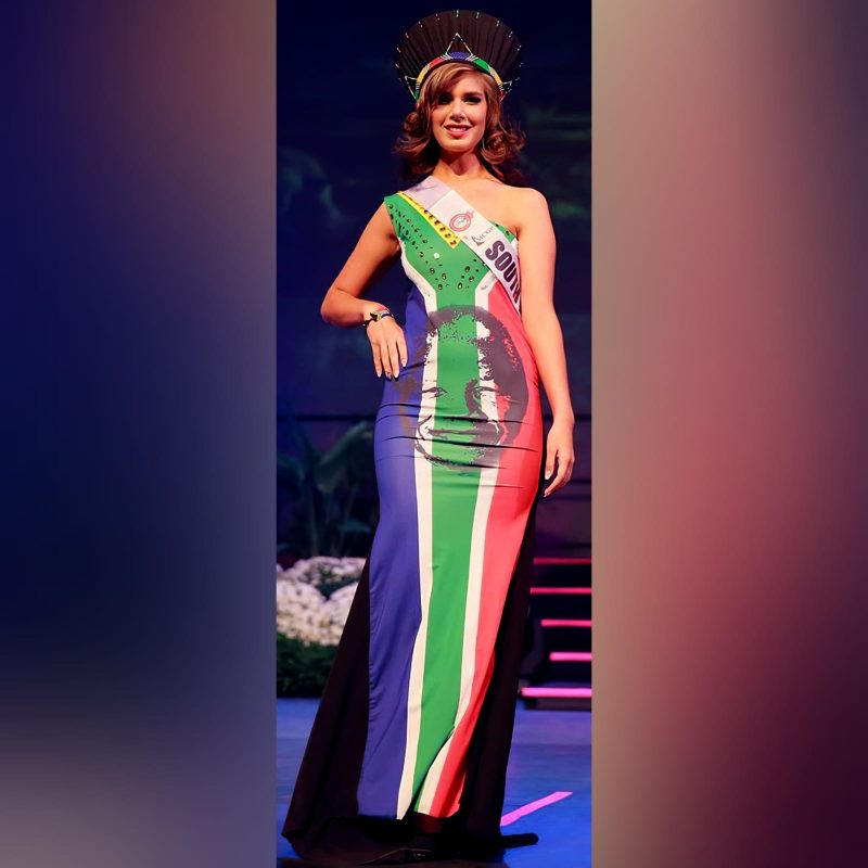 South African flag evening traditional dress (3)