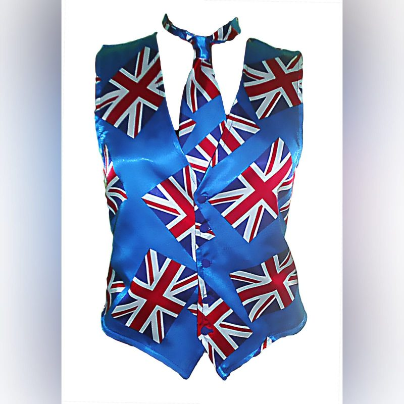 UK flag traditional waistcoat and tie (2)