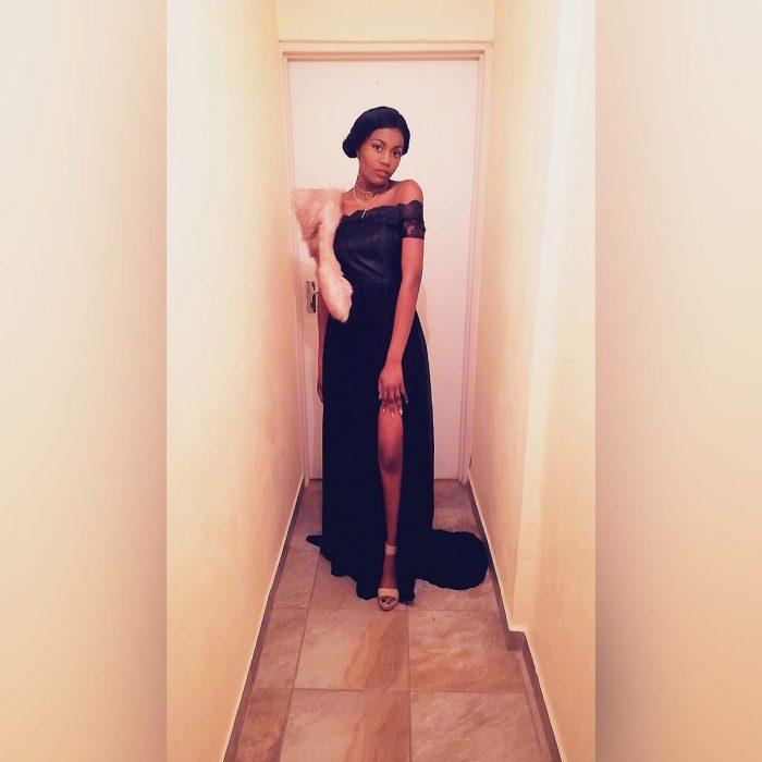 long black prom dress with gathered chiffon (1)